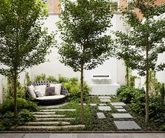 gorgeous modern garden design in NYC