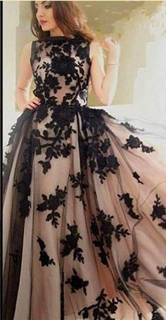 Prom Dress A-line Bateau Applique Black Tulle Long Prom Dresses/Evening Dress Prom Dress A-line Bateau Applique Black Tulle Long Prom Dresses/Evenin – selinadress The… Champagne Evening Dress, Black Evening Dresses, Black Prom Dresses, Ball Dresses, Dress Black, Indian Gowns Dresses, Indian Fashion Dresses, Dress Indian Style, Gown Party Wear