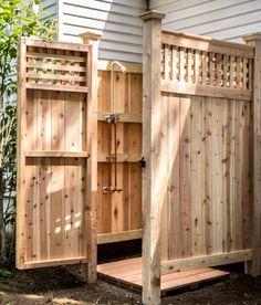 Outdoor Shower Kit Standard Knotty Cedar Ny