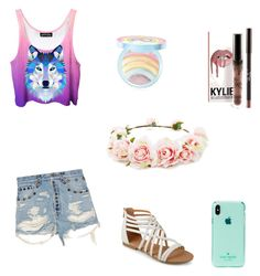 """""""Party on a boat"""" by elenaanais on Polyvore featuring Gucci, Kate Spade, Journee Collection, Too Faced Cosmetics and Forever 21"""