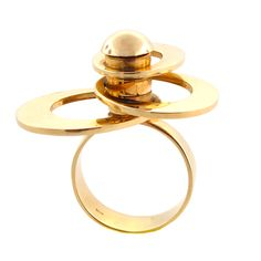 Want this baldy!  kinetic ring | Kinetic Circle Ring in 14K Gold | Cleo Walker | Fine Vintage & Estate ...