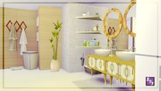 The Stories Sims Tell: Modern Spectrum – White Bathroom • Sims 4 Downloads