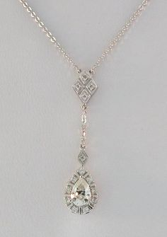 .60 Ct Pear Cut Moissanite Genuine Diamond Necklace | eBay