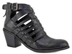 G By Guess Women's Giya Caged Booties Black Strappy Ankle Boot Size 6 (B, M) #GUESS #AnkleBoots #Casual