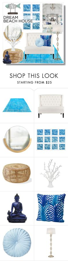 """""""#beachhouse"""" by hellodollface ❤ liked on Polyvore featuring interior, interiors, interior design, home, home decor, interior decorating, Umbra, William Stafford, Nordstrom Rack and SONOMA Goods for Life"""