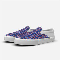 e7a5c64ada8869 Chicago Cubs Slip-On Tiled Logo Design Shoes by Fan Kicks