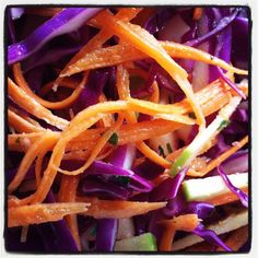 11am and Marvin Gaye's playing, Ruari's sun-worshipping and WINE is mulling! Open magnum of red about to get tossed has been repurposed - will share when the weather's more cool. Here's the slaw I was sure John wouldn't eat, but he did. Red cabbage+carrot+Granny Smith+dressing w/YL Thyme= Slaw - hold the mayo (not that there's anything' wrong with it...) It's a beautiful day and the Mets are winning! #whatsgoinon #howsweetitis #mercymercyme