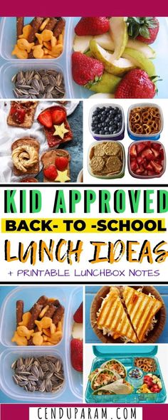 Find healthy school lunch ideas that even picky eaters will love that are easy and delicious, plus free printable lunch notes. Kids Lunch For School, Healthy Lunches For Kids, Healthy School Lunches, Healthy Snacks, School Snacks, Kid Lunches, Vegetarian Sushi Rolls, Roasted Chickpeas Healthy, Picky Eaters