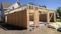 Garage walls framed/10' sidewalls