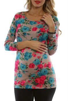http://www.pinkblushmaternity.com/p-4344-beige-floral-print-34-sleeve-maternity-shirt.aspx#