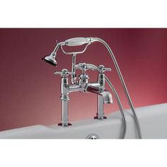 wall mount clawfoot tub faucet handheld shower. Strom Plumbing Deck Mount Clawfoot Tub Faucet with Handheld Shower Wall