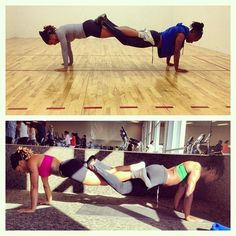 Plank Pose Uttihita Chaturanga Dandasana - partner yoga plank