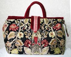Handbag / Carpet Bag / Mary Poppins Bag / by TurtleDoveBagsEtc