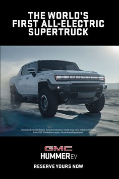 Reserve your all-electric supertruck now. New Trucks, Chevy Trucks, Pickup Trucks, Custom Trucks, Hummer Truck, Electric Truck, Fast Cars, Cars Motorcycles, Luxury Cars