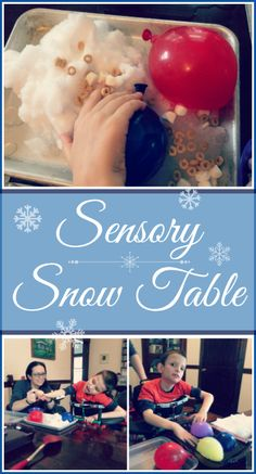Here's a fun sensory-friendly activity that is great on a snow day! Let your child explore snow and temperature with their own sensory snow table.
