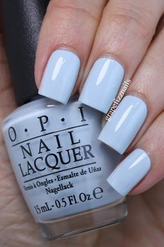 I have the new OPI Soft Shades Spring 2016 to share with you today! I love the Soft Shades Collections . Opi Blue Nail Polish, Opi Nail Colors, Nail Lacquer, Opi Nails, Blue Nails, Nail Manicure, Fancy Nails, Pretty Nails, Stylish Nails