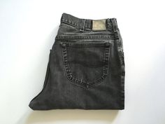 Vintage Men's 80's Lee, Jeans, Black, Relaxed Fit, Denim (W34 x L30) by Freshandswanky on Etsy