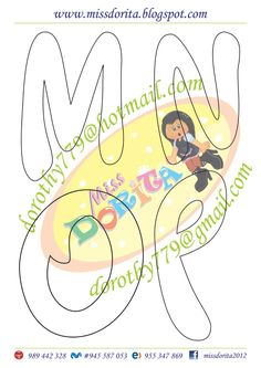 Miss Dorita: Letra Timoteo Bubble Letters, Font Art, Letter Templates, Diy And Crafts, Clip Art, Kids Rugs, Symbols, Cards, Handmade