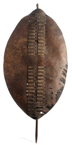 African 19th Century Tribal Shields, Lot of Two - Cowan's Auctions