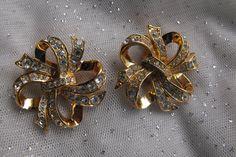 KJL Vintage Earrings  BOOK PIECE Ribbon by FancySchmancyJewels, $25.00