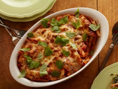 Cheesy Spinach Baked Penne from FoodNetwork.com
