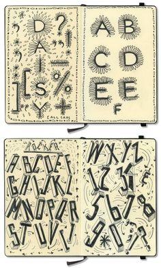 Paula Scher.    From--Moleskine Detour: Inside the Notebooks of Beloved Creative Icons | Brain Pickings