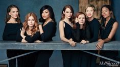 Natalie Portman (left). She and (from left) Amy Adams, Taraji P. Henson, Emma Stone, Isabelle Huppert, Annette Bening and Naomie Harris were photographed Nov. 13 at Line 204 Studios in Hollywood.2017