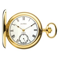 Jean Pierre Of Switzerland 9ct Gold Full Hunter Hand Driven Mechanical Pocket Watch. Now available at www.pocketwatch.co.uk #pocketwatch #timepiece