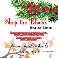 "Crazy Knitter's Creations: Shop The Block ""Downtown Cornwall Ontario"" Maker Shop, Upcoming Events, Cornwall, Ontario, Festive, Seasons, Holiday, Shopping, Vacations"