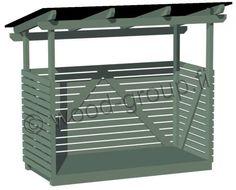 Puukatos / jätekatos / jätesuoja, monikäyttöinen elementeistä valmistettu katos
