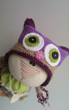 Soft Toy Owl Cat toys Bag with owl Collection of owls by KotOmkaRU