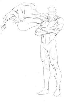 Robert Atkins Art: More SuperHero figure templates