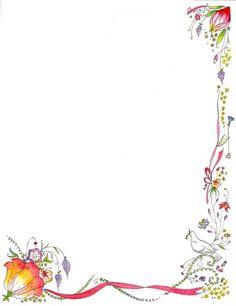Book Border Template | Latest Flower Green Border Design HD 2013
