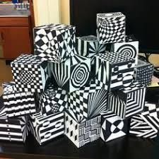 Image result for op art cube template