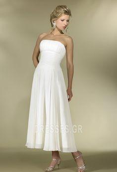 77916cfa80de Τα μέσα πλάτη Φυσικό Καλοκαίρι Αυτοκρατορία Νυφικά Wedding Gowns