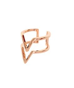 Myla rose ring   Edge of Ember   A minimalist double chevron ring