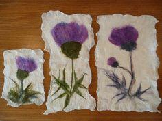 'Thistles' - botanical felting by Diva Designs