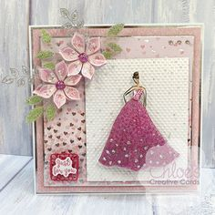 Chloes Creative Cards Craft, Cardmaking and Papercraft Supplies Chloes Creative Cards, Stamps By Chloe, Create And Craft Tv, Soda Can Art, Dress Card, Cardmaking And Papercraft, Easel Cards, Creative Crafts, Chloe Fashion