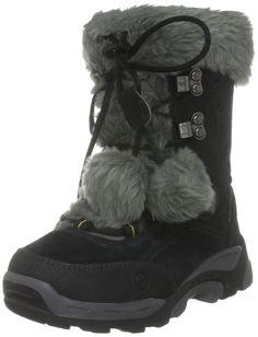 c54de20b28a0 Girls Hi-Tec Outdoor Boots St Moritz 200J - Black/Grey - UK Size 13 - EU  Size 32 - US Size 1. Leather Uppers. Textile Lined. Manmade Soles.