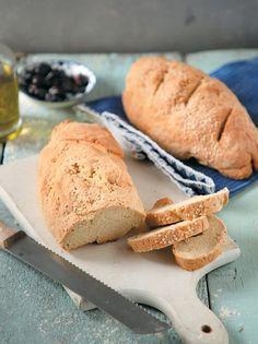 Ψωμί χωριάτικο - www.olivemagazine.gr Types Of Food, Bread, Recipes, Magazine, Drink, Beverage, Brot, Magazines