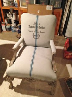 Annie Sloan Chalk Painted fabric chairs by Bella Tucker Decorative Finishes