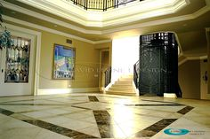 We did architectural interior design and all the detail for this foyer.