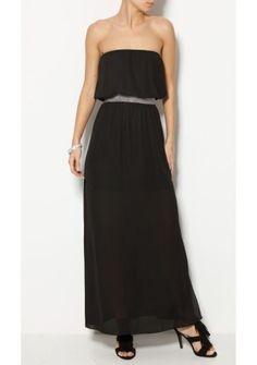 Dlhé šaty bez ramienok #ModinoSK #BLACKDRESS