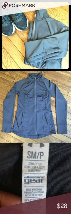 PRICE DROPUnder Armour Running Jacket ❗️Firm on price drop❗️Sleek Under Armour running jacket. Dark gray- charcoal color. Has a mock neck, 2 front/side pockets. It is a semi-fitted size small. Worn only a few times so still like new! Under Armour Jackets & Coats