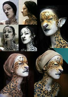 I love the facial markings that continue down. My favourite parts of costuming are the little details, Larp, Fantasy Make Up, Animal Makeup, Character Makeup, Theatre Makeup, Theatrical Makeup, Make Up Art, Special Effects Makeup, Fx Makeup