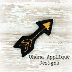Arrow Feltie PATTERN In The Hoop Machine Embroidery Pattern (3.50 USD) by OhanaAppliqueDesigns