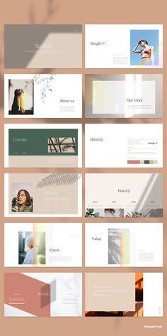 Design Presentation Layout Brand Identity 70 New Ideas Keynote Design, Ppt Design, Layout Design, Powerpoint Design Templates, Design Brochure, Design Poster, Slide Design, Keynote Template, Book Design