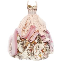 edited by Satinee - Dior couture gown ❤ liked on Polyvore featuring dresses, gowns, long dresses, satinee, pink dress, pink ball gown, christian dior evening gowns and pink gown