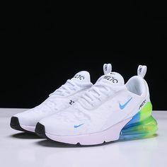 175c063b0d Mens and WMNS Nike Air Max 270 White/Blue-Green Running Shoes AH6789-130