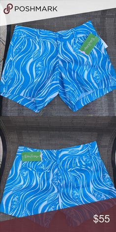 Lilly Pulitzer Callahan Resort White Shorts Lilly Pulitzer Callahan Shorts.  Resort White Joe Fish.  Love this blue!!. Perfect look for the summer! Lilly Pulitzer Shorts